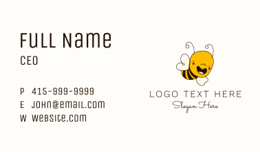 Happy Bee Apparel Business Card