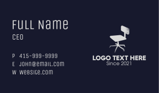 Gray Rustic Office Chair  Business Card