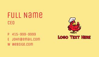 Parrot Chef Restaurant  Business Card