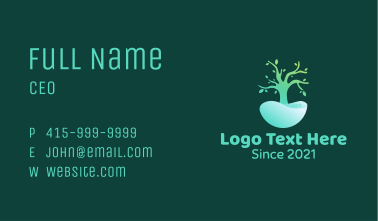 Natural Tree Pond Business Card