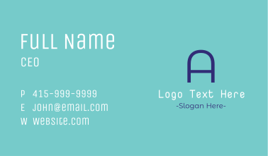 Clean &  Simple Letter Business Card