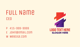 Modern Abstract Rectangle Business Card