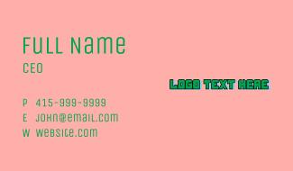 Green Tech Startup Wordmark Business Card
