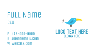 Tropical Parrot Business Card