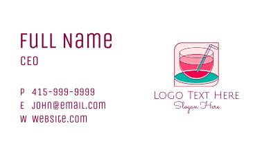 Pink Juice Drink Business Card