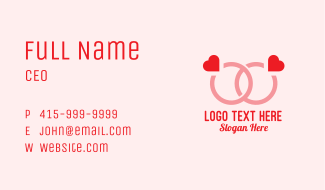 Couple Engagement Ring  Business Card