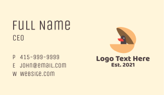 Duckling Egg Toy  Business Card
