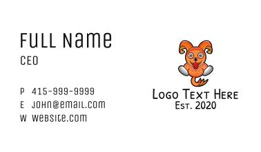 Orange Cartoon Bunny Business Card