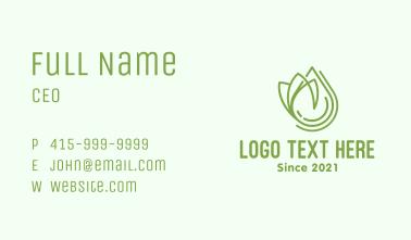 Natural Organic Oil Business Card