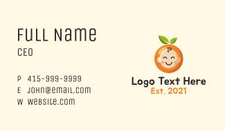 Orange Baby Head Business Card