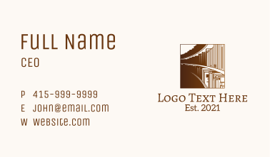 Library Bookshelf Business Card