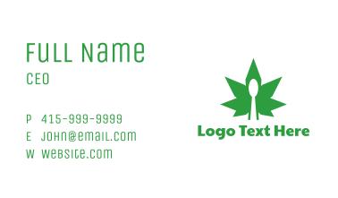 Edible Cannabis Spoon Business Card