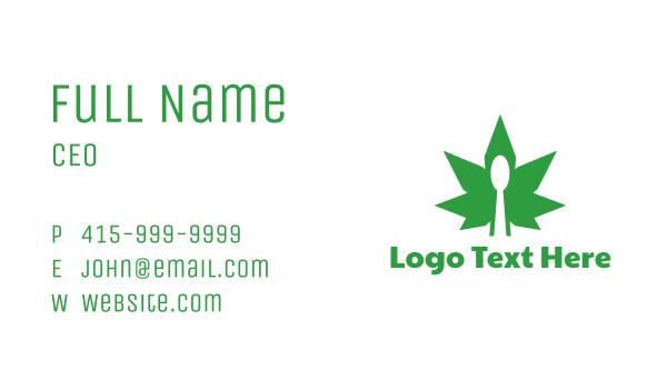 edible - Edible Cannabis Spoon Business card horizontal design