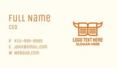 Orange Cowboy Book  Business Card