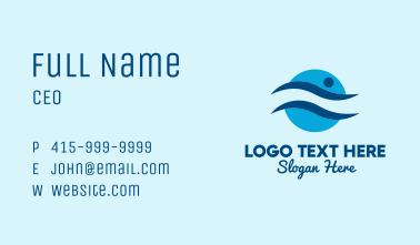 Swim Team Emblem  Business Card