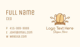 Coffee Bean Seedling Business Card