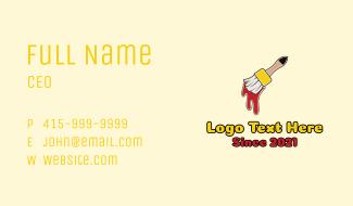 Paintbrush Tool Business Card
