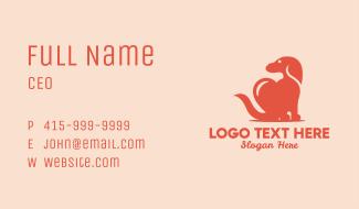 Beagle Dog Heart Business Card