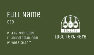 Bar Wine Bottles Business Card