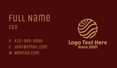 Elegant Hotel Geometric Business Card