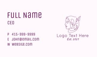 Purple Arabic Beauty Business Card