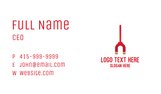 Red Magnet Stick Business Card