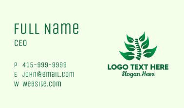 Leaf Spinal Cord Business Card