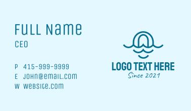Blue Ocean Letter O Business Card