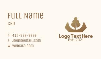 Brown Tree Crown Business Card