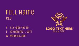 Golden Eagle Crest Business Card