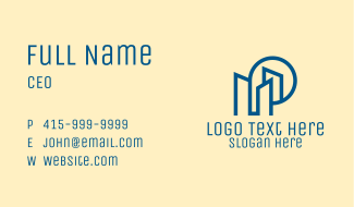 Simple Blue Real Estate Business Card