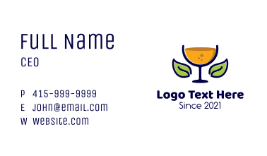 Organic Fruit Juice  Business Card