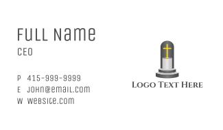 Cross Pedestal Business Card