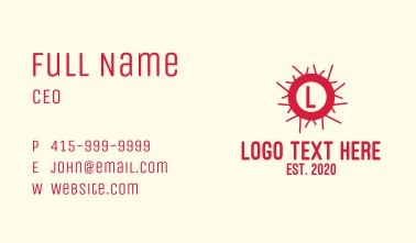 Red Virus Lettermark Business Card