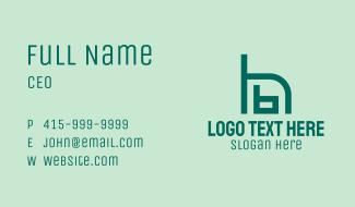 B & H Chair Monogram Business Card