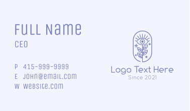 Sparkling Nature Eye  Business Card