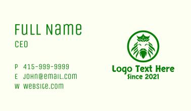 Nature Royal King Business Card