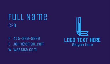 Tech Letter L Business Card