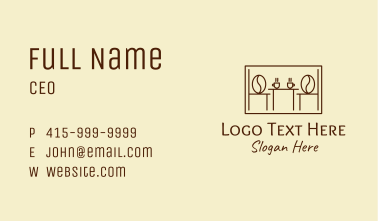 Coffee Cafeteria Frame  Business Card