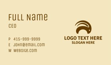 Brown Goat Horns  Business Card