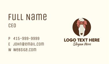 Ribbon Sandal Fashion Business Card