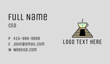 Aztec Coffee Temple  Business Card