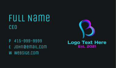 Startup Business Letter B  Business Card