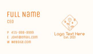 Orange Flower Stall Business Card
