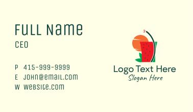 Sunset Watermelon Juice  Business Card