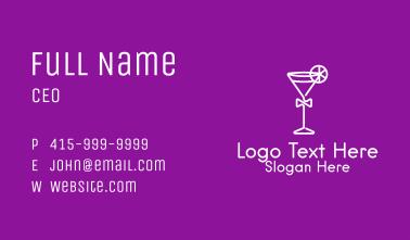 White Martini Glass  Business Card