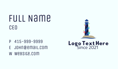 Floral Light House  Business Card
