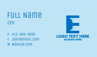 Finger Touch Letter E  Business Card