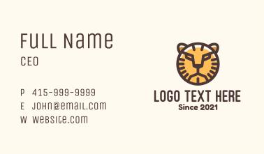 Wild Tiger Safari Business Card