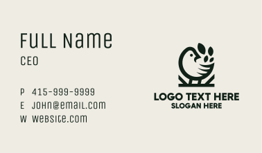 Black Chicken Leaf Restaurant Business Card